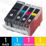 Canon PGI-5 + CLI-8 (4 Pack) Compatible Inkjet Cartridge Combo
