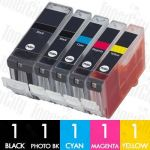 Canon PGI-5 + CLI-8 (5 Pack) Compatible Inkjet Cartridge Combo