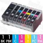 Canon PGI-5 + CLI-8 (7 Pack) Compatible Inkjet Cartridge Combo