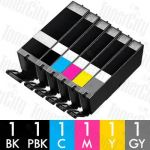 Canon PGI-670XL + CLI-671XL (6 Pack) High Yield Compatible Inkjet Cartridge Combo