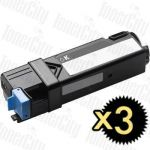 Dell 59210500 (2130CN/2135CN) Black High Yield 3 Pack Compatible Toner Cartridge