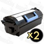 Dell B5460DN/B5465DNF 2 Pack Compatible Toner Cartridge