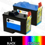Dell 7Y743 + 7Y745 (A940/A960) 2 Pack Compatible Inkjet Cartridge Combo