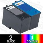 Dell CH883 + CH884 (966/968) High Yield 3 Pack Compatible Inkjet Cartridge Combo