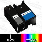 Dell Series 21/24 (V313/V515/P513/P713/V715) High Yield 2 Pack Compatible Inkjet Cartridge Combo