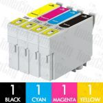 Epson 138 High Yield 4 Pack Compatible Inkjet Cartridge Combo
