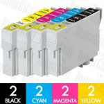Epson 220XL (C13T294192-C13T294492) High Yield 8 Pack Compatible Inkjet Cartridge Combo