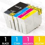 Epson 252XL High Yield 4 Pack Compatible Inkjet Cartridge Combo