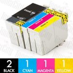 Epson 252XL High Yield 5 Pack Compatible Inkjet Cartridge Combo