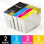 Epson 254XXL + 252XL High Yield 8 Pack Compatible Inkjet Cartridge Combo