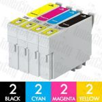 Epson 73N 8 Pack Compatible Inkjet Cartridge Combo