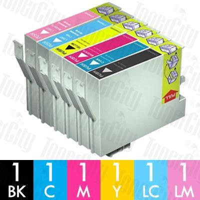 Epson T5591-T5596 6 Pack Compatible Inkjet Cartridge Combo
