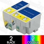 Epson T007 + T008 (4 Pack) Compatible Inkjet Cartridge Combo