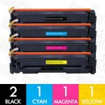 Compatible HP CF510A CF511A CF512A CF513A (204A) 5 Pack Toner Cartridges Combo