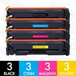 Compatible HP CF510A CF511A CF512A CF513A (204A) 12 Pack Toner Cartridges Combo