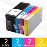 HP 564XL (CN684WA + CB323WA-CB325WA) High Yield 8 Pack Compatible Inkjet Cartridge Combo