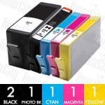 HP 564XL (CN684WA + CB322WA-CB325WA) High Yield 6 Pack Compatible Inkjet Cartridge Combo