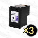 HP 61XL (CH563WA) Black High Yield 3 Pack Compatible Inkjet Cartridge