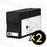 Compatible HP 711 (CZ133A) Black 2 Pack Inkjet Cartridge