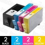 HP 920XL (CD972AA-CD975AA) High Yield 8 Pack Compatible Inkjet Cartridge Combo
