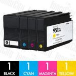 HP 950XL + 951XL (CN045AA-CN048AA) High Yield 4 Pack Compatible Inkjet Cartridge Combo