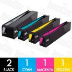 HP 970XL + 971XL (CN625AA-CN628AA) High Yield 5 Pack Compatible Inkjet Cartridge Combo