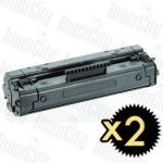 HP 06A (C3906A) Black 2 Pack Compatible Toner Cartridge