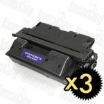 HP 27X (C4127X) Black High Yield 3 Pack Compatible Toner Cartridge