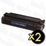 HP 15X (C7115X) Black High Yield 2 Pack Compatible Toner Cartridge