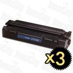 HP 15X (C7115X) Black High Yield 3 Pack Compatible Toner Cartridge