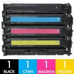 HP 304A (CC530A-CC533A) 4 Pack Compatible Toner Cartridge Combo