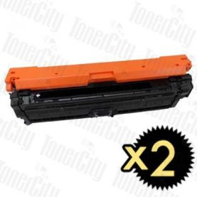 HP 650A (CE270A) Black 2 Pack Compatible Toner Cartridge