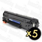 HP 85A (CE285A) Black 5 Pack Compatible Toner Cartridge