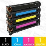 Compatible HP 126A (CE310A-CE313A) 4 Pack Toner Cartridge Combo