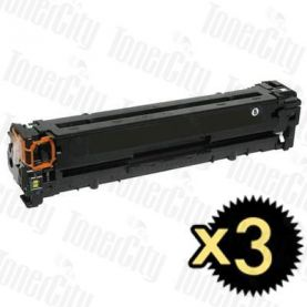 HP 126A (CE310A) Black 3 Pack Compatible Toner Cartridge