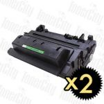 HP 90A (CE390A) Black 2 Pack Compatible Toner Cartridge