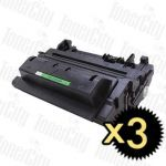 HP 90A (CE390A) Black 3 Pack Compatible Toner Cartridge