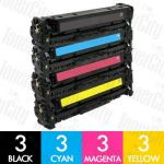 HP 305X + 305A (CE410X + CE411A-CE413A)12 Pack Compatible Toner Cartridge Combo