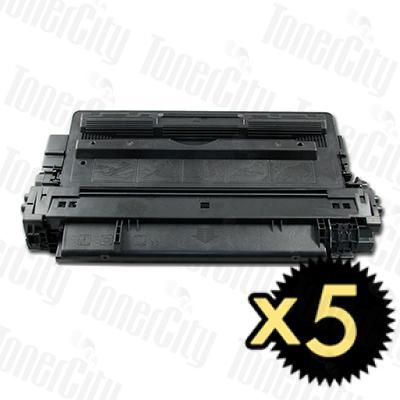 HP 14X (CF214X) Black High Yield 5 Pack Compatible Toner Cartridge