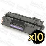 HP 80A (CF280A) Black 10 Pack Compatible Toner Cartridge
