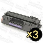 HP 80A (CF280A) Black 3 Pack Compatible Toner Cartridge