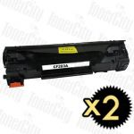HP 83A (CF283A) Black 2 Pack Compatible Toner Cartridge