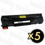 HP 83A (CF283A) Black 5 Pack Compatible Toner Cartridge