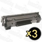 HP 83X (CF283X) Black 3 Pack Compatible Toner Cartridge
