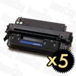 HP 10A (Q2610A) Black 5 Pack Compatible Toner Cartridge