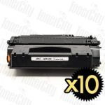 HP 49X (Q5949X) Black High Yield 10 Pack Compatible Toner Cartridge