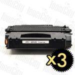 HP 49X (Q5949X) Black High Yield 3 Pack Compatible Toner Cartridge