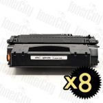 HP 49X (Q5949X) Black High Yield 8 Pack Compatible Toner Cartridge