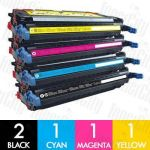 HP 501A + 503A (Q6470A + Q7581A-Q7583A) 5 Pack Compatible Toner Cartridge Combo