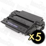 HP 51X (Q7551X) Black High Yield 5 Pack Compatible Toner Cartridge